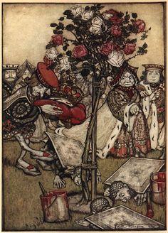 arthur rackham's alice in wonderland illustrations