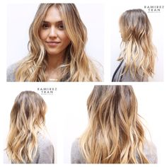 "LOVE what the Ramirez|Tran Salon did with Jessica Alba's hair! Natural, beachy, ""lived-in color."""