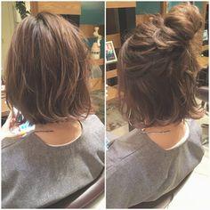 【HAIR】 La coiffure de Hikawa Hirakawa saute (ID: . Messy Short Hair, Hair Arrange, Aesthetic Hair, Short Bob Hairstyles, Love Hair, Hair Looks, Hair Lengths, New Hair, Curly Hair Styles