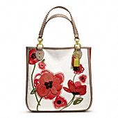 poppy placed flower tote
