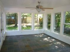 Love all the windows, great for family room off back of house