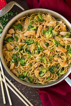 Pin for Later: Break Out of Your Steamed Broccoli Rut With These 25+ Recipes Sesame Noodles With Chicken and Broccoli Get the recipe: sesame noodles with chicken and broccoli