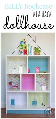 IKEA BILLY Bookcase turned into a fun dollhouse - IKEA hack