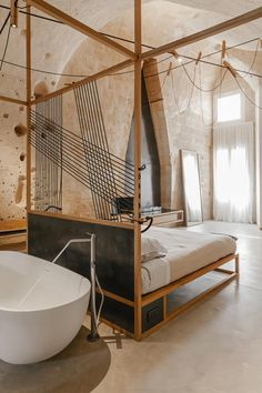 This small design hotel offers four rooms and a café/bistro in Matera's Sasso, the town's cave area.