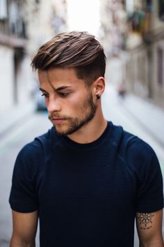 The Pompadour Haircut for Men. Inspirational the Pompadour Haircut for Men - Manly Cutthroat Haircut. 25 Pompadour Hairstyles and Haircuts Cool Hairstyles For Men, Easy Hairstyles For Medium Hair, Men's Hairstyles, Wedding Hairstyles, Mens Hairstyles Fade, Classy Hairstyles, Hairstyles Pictures, Latest Hairstyles, Best Short Haircuts