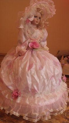 Beautiful Porcelain Umbrella Victorian Collector Doll | eBay