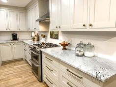 Revere Pewter Kitchen Cabinets - Painted by Kayla Payne Revere Pewter Kitchen, Interior Door Colors, Ikea Sinks, Revere Pewter Benjamin Moore, Cabinet Paint Colors, Kitchen Wall Colors, Oak Stain, Weathered Oak, Scandinavian Kitchen