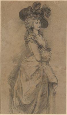 Gainsborough Dupont (1754-1797 Portrait de la duchesse de Devonshire