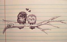 <3 I have GOT to try to draw this! Adorable! Cute tattoo idea!! And use the hearts to symbolize kids!!!