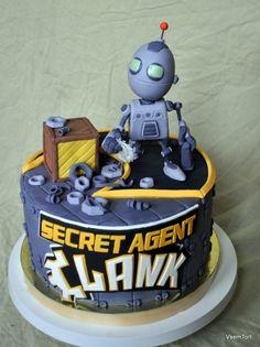 Secret Agent Clank on Cake Central Cupcakes, Cake Cookies, Cupcake Cakes, Delicious Cake Recipes, Yummy Cakes, Robot Cake, Fondant, Cake Wrecks, Fairy Cakes
