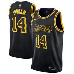 5bb81890c39 Nike 2017 NBA Los Angeles Lakers Brandon Ingram 14 Swingman City Edition  Jersey