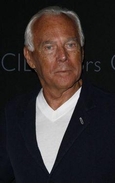 Giorgio Armani is famous for his menswear.