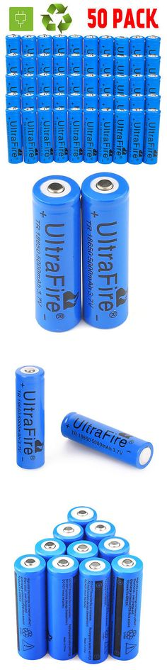 Rechargeable Batteries: 50Pcs 18650 3.7V 5000Mah Rechargable Battery For Led Flashlight Headlamp Torch -> BUY IT NOW ONLY: $34.99 on eBay!