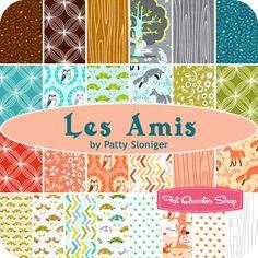 Les Amis Yardage Patty Sloniger for Michael Miller Fabrics