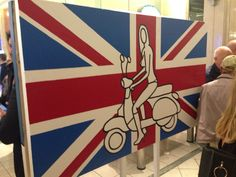 Pop art by Richard Scott that's me on the Vespa. It was really an awesome campaign I love the colors and Union Jack theme!