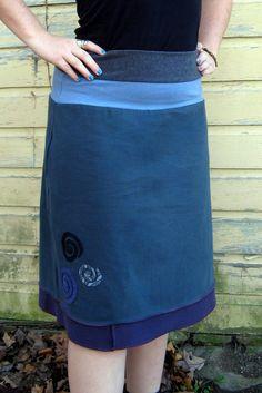 Turnaround Designs Upcycled Tshirt Skirt by turnarounddesigns