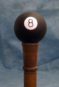 Eight Ball Walking Stick or Hiking Staff Our unique selection of this handpainted Sports Walking Stick is sure to please the most discriminating lover of competition, games, entertainment and fun! Wooden Walking Sticks, Walking Sticks And Canes, Walking Canes, Snake Stick, Shooting Sticks, Hiking Staff, Cane Handles, Wooden Canes, Chip Carving