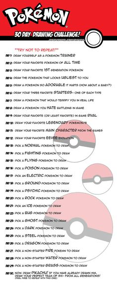 So I actually did this like in November or something, and for some reason I never posted it. There's a lot of 30 day drawing challenges out there, but the pokemon ones I've seen didn't appeal to me...