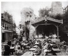 The Forgotten Elephant of the Moulin Rouge Garden Party was actually inspired by the Coney Island elephant colossal hotel
