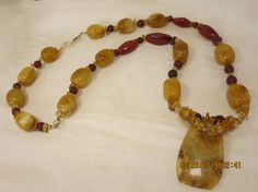 Exotic Necklace, Summer Necklace, Beach Necklace, Jasper ,Agate,citrine, Gold Fill