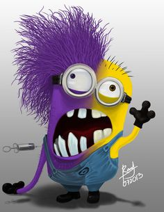 Minion Psycho, Bipolar disorder, drugs or all of the above? 。◕‿◕。 See my Despicable Me Minions pins Amor Minions, Evil Minions, Minions Despicable Me, Minions Quotes, My Minion, Minion Rush, Minion Stuff, Minion Face Paint, Despicable Me