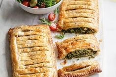 Easy spinach and ricotta pies