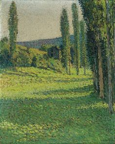 Henri Martin, At the edge of a field
