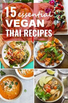 With lots of veggies, spices, and of course heaps of peanut sauce, there's a lot to love about Thai cuisine. But the best part? It's SO vegan and vegetarian friendly! Here are 15 delicious vegan Thai recipes you need to try! #thairecipes #veganrecipes #vegetarianrecipes #meatlessmonday
