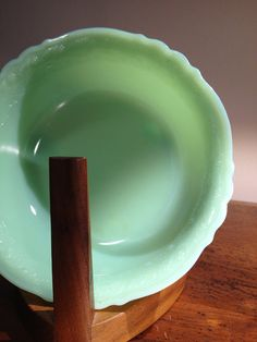 Third batch of Jadeite up on Atomic Vault! Only 5 more items to be posted....Vintage 1930s McKee Jadeite Laurel 6 3 Toed Jelly by AtomicVault, $25.00