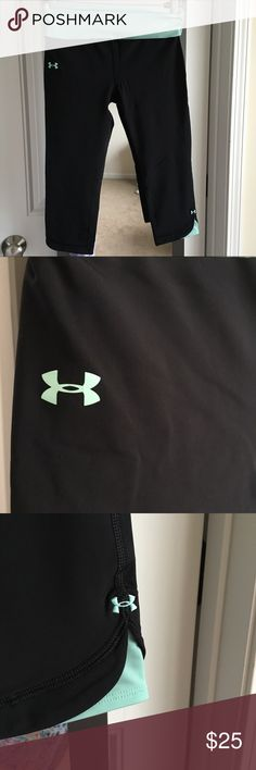 Under Armour Workout Leggings VGUC Capri workout leggings. Inside pocket that will fit a key or debit card. Under Armour Other