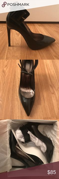 NWT Jeffrey Campbell Leche Black Heel Brand New, Never Worn, Still in Box Jeffrey Campbell Leche Black Patent Leather Heel, Fits Snug. No Trades Jeffrey Campbell Shoes Heels