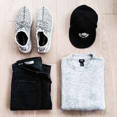Outfit grid - Grey marl & black