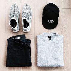 Outfit grid - Grey marl & black