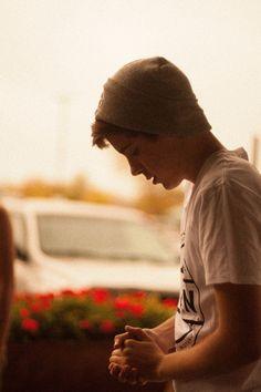 Logan lerman wearing a beanie... Kill me now