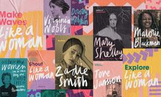 Penguin marked International Women's Day with a campaign to celebrate women in literature. Working with their in-house creative manager, Zainab Juma, we developed the look and feel for the campaign and a pop-up bookshop in East London. Charity Branding, Handwritten Type, Campaign Posters, Social Campaign, Advertising Campaign, Web Design, Workshop Design, Studio Design, Design Poster