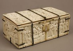 Ivory Casket with Romance Scenes