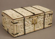 Ivory Casket with Romance Scenes
