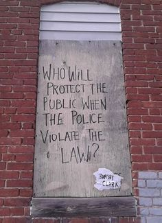 Police are More Dangerous to the Public Than Criminals - Who will protect the public when the police violate the law? Protest Kunst, Protest Art, Protest Signs, Hawke Dragon Age, Graffiti Quotes, Anarchism, Political Art, Political Issues, Power To The People