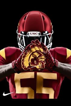 USC Athletics' photo: The new Nike gloves will look good on the best wide receiving corps in America. WE PLAY WITH STYLE Usc Basketball, Indoor Basketball, Football Jerseys, Football Helmets, Football Fight, Football Gloves, Football Baby, American Football, College Football Uniforms