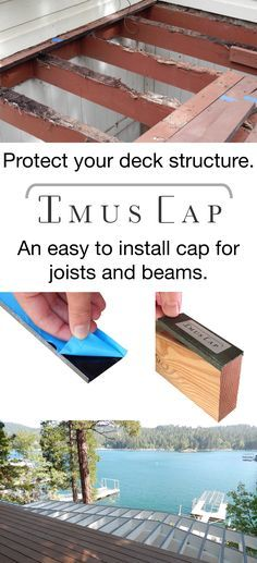 Imus Cap is a patented, easy to install joist and beam cap designed to protect your wooden deck structure from water damage and rot. Imus Cap is made of bonderized metal with a butyl rubber waterproof