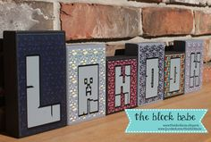 Minecraft Blocks Personalized Wooden Name Blocks by TheBlockBabe