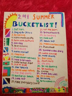 Summer bucketlist 2014