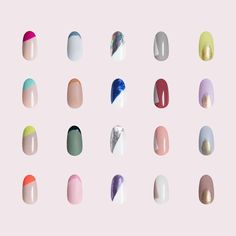 "For Long Nails Paintbox ( ""Found: our top designs that look ultraflattering on shorter nails. Orange Nail Designs, Colorful Nail Designs, Nail Art Designs, Nails Design, Paintbox Nails, Self Nail, Nail Art Kit, Latest Nail Art, Minimalist Nails"