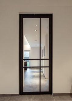 Modern steel door in version of … – Door Types Glass Design, Door Design, House Design, Partition Door, Steel Frame Doors, Cozy Home Office, Black Doors, Kitchen Doors, Types Of Doors