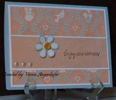 @ Verna Angerhofer made this card with some note paper I sent to her.