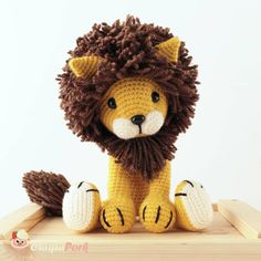 ChiquiPork さんはInstagramを利用しています:「 Tyrion the lion is still my favorite pattern creation so far  Remember now you can have a custom Tyrion toy made by me in your favorite…」