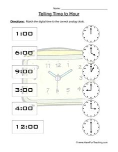The 34 best Clock worksheets images on Pinterest | Math activities ...