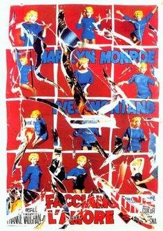 Let's make love! - by Mimmo Rotella Artist Painting, Painting Prints, James Rosenquist, Neo Dada, Lets Make Love, Claes Oldenburg, Photo Sculpture, Jasper Johns, Roy Lichtenstein