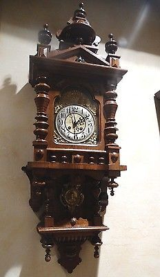 Beautiful Gustav Becker Balcony Berliner German Wall Clock- 1890 -- Antique Price Guide Details Page