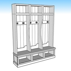 DIY PLANS – Coastal Console Table how to make an AMAZING console table with complete step-by-step instructions! These plans have been modified for… Mudroom Bench Plans, Entryway Bench, Kreg Pocket Hole Jig, Diy Locker, Dog House Plans, Build A Greenhouse, Table Plans, Diy Table, Console Table